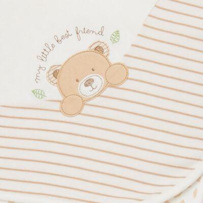 Imagem 2 do produto Manta em algodão egípcio c/ jato de cerâmica e filtro solar fps 50 Nature Little Friend Bear - Mini & Kids - MTRC0001.18 MANTA C/RECORTE AVULSA - SUEDINE