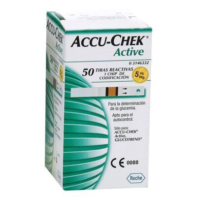 TIRA PARA TESTE DE GLICOSE ACTIVE ACCU-CHECK - Caixa com 25