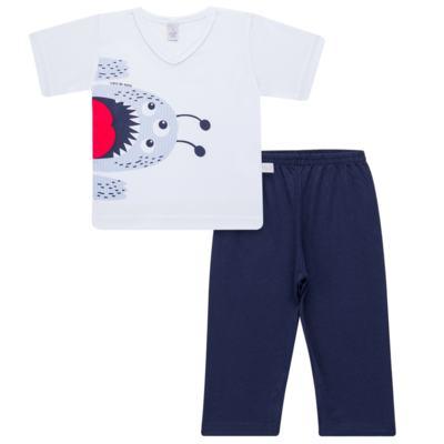 Imagem 1 do produto Pijama curto em malha Monstrinho - Cara de Sono