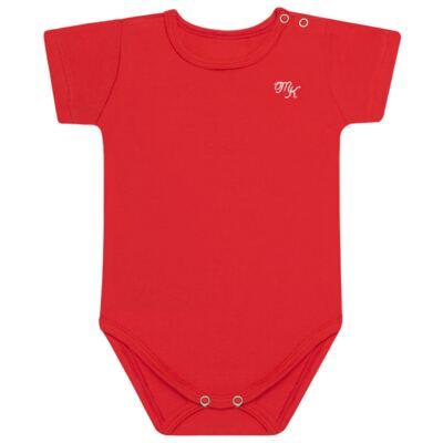 Body curto para bebe em Pima Cotton Supreme Vermelho Pitanga - Mini & Kids - BSM93 BODY MC SUEDINE VERMELHO-G