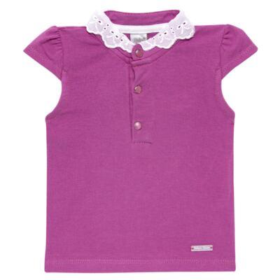 Imagem 1 do produto Blusinha para bebe em cotton Uva - Baby Classic - 21751699 BLUSINHA M/C GOLA COTTON PÁSSAROS-M