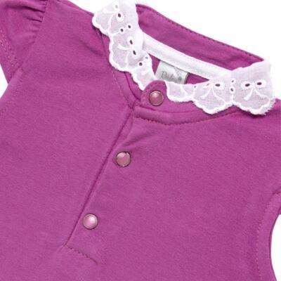 Imagem 2 do produto Blusinha para bebe em cotton Uva - Baby Classic - 21751699 BLUSINHA M/C GOLA COTTON PÁSSAROS-M