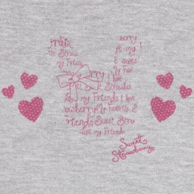 Imagem 3 do produto Blusão com Calça para bebe em moletom Corações Poá Mescla - Mini Mix - LTCM01 CONJUNTO MOLETOM CORAÇÃO POÁ PINK/MESCLA-1