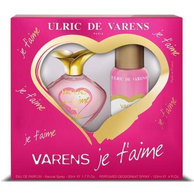 Imagem 1 do produto Varens Je t'aime Ulric de Varens - Feminino - Eau de Parfum - Perfume + Desodorante - Kit