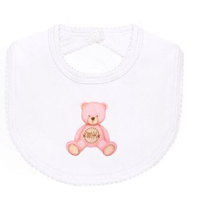 Imagem 3 do produto Pack: 2 babadores em Pima Cotton Supreme Prime Bear Rosa - Mini & Kids
