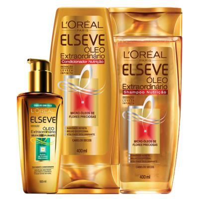 Imagem 1 do produto Kit Condicionador + Shampoo + Tratamento L'Oréal Paris Elseve Óleo Extraordinário - Kit