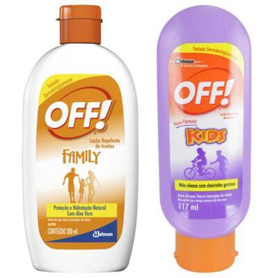 Repelente Off Kids 117ml + Repelente Off Hidratante Loção 200ml