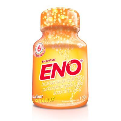 Imagem 1 do produto Sal de Frutas Eno - frasco com 100g de pó efervescente de uso oral, laranja -