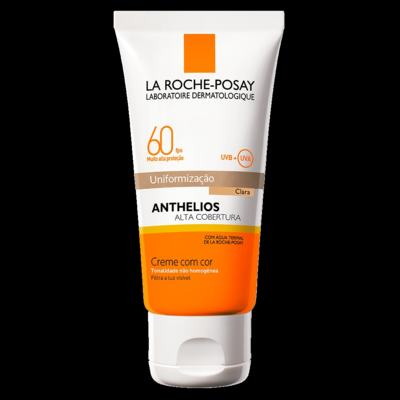 Protetor Solar Cor Clara La Roche-Posay Anthelios Alta Cobertura FPS 60 50ml