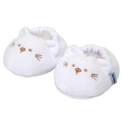 Pantufa para bebe Branco - Biramar Baby