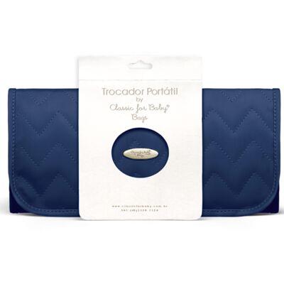 Imagem 1 do produto Trocador Portátil para bebe Chevron Safira - Classic for Baby Bags