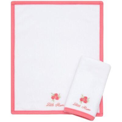 Kit com 2 fraldas de boca atoalhadas Little Roses - Classic for Baby