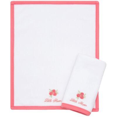 Imagem 1 do produto Kit com 2 fraldas de boca atoalhadas Little Roses - Classic for Baby