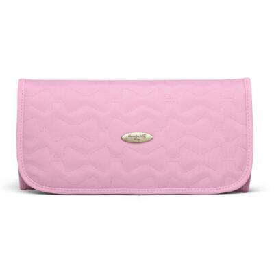Imagem 2 do produto Trocador Portátil para bebe Laços Matelassê Rosa - Classic for Baby Bags