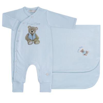 Imagem 1 do produto Jogo Maternidade com Macacão e Manta em algodão egípcio Chevalier - Petit