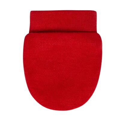 Imagem 3 do produto Kit 2 Pares de luvas em algodão egípcio Branca/Vermelha - Bibe