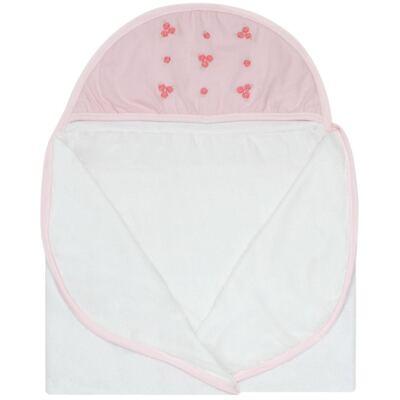 Imagem 2 do produto Toalha com capuz Florzinhas - Classic for Baby