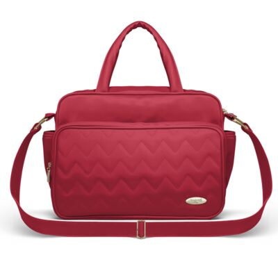 Bolsa maternidade para bebe Turin Chevron Rubi - Classic for Baby Bags