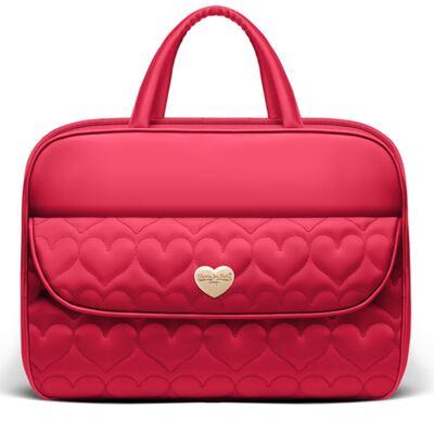 Mala maternidade para bebe Corações Matelassê Vermelha - Classic for Baby Bags