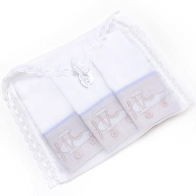 Imagem 4 do produto Kit com 3 paninhos de boca para bebe em fralda Aviãozinho - Roana