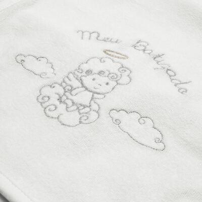 Imagem 2 do produto Toalha para bebe batizado Branca - Classic for Baby