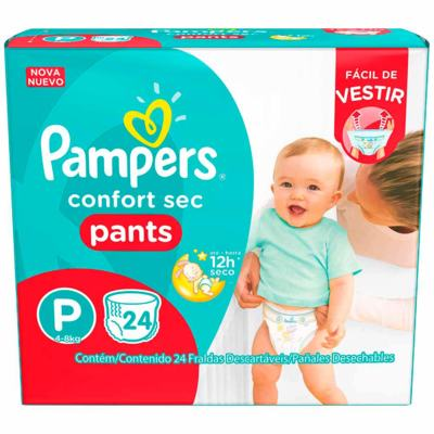 Fralda Pampers Pants - P   24 unidades