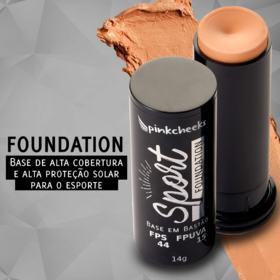 Base em Bastão Pink Cheeks - Sport Make Up Foundation - Médio