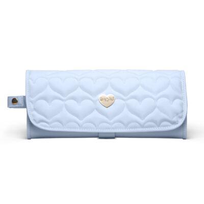 Imagem 2 do produto Trocador Portátil para bebe Corações Matelassê Azul - Classic for Baby Bags