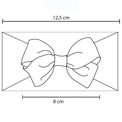 Imagem 2 do produto Faixa meia Laço gorgurão Pink Poá - Roana