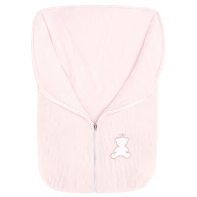 Imagem 1 do produto Saco de dormir em plush cotelê Honey Bear Pink - Baby Classic