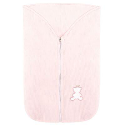 Imagem 2 do produto Saco de dormir em plush cotelê Honey Bear Pink - Baby Classic