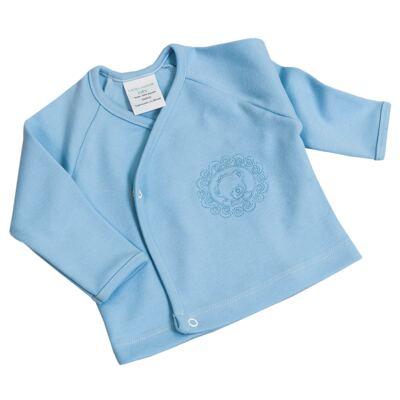 Imagem 4 do produto Jogo Maternidade Blue Teddy Bear 7 peças: Casaquinho + Body regata + Mijão + Touca + Luvas + Babador + Manta - Laura Ashley Baby