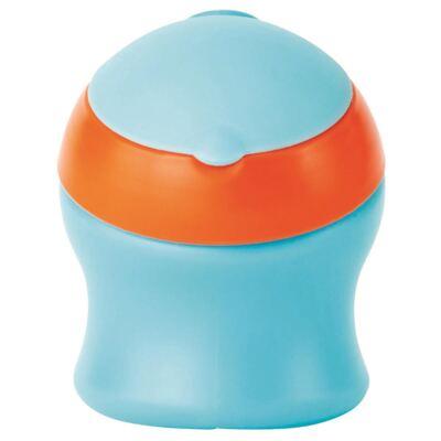 Copo pequeno c/ tampa giratória Azul/Laranja (6m+) - Boon