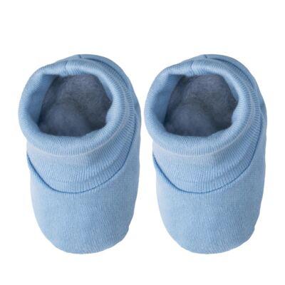 Imagem 3 do produto Kit c/ Touca, Luva e Sapatinho para bebe em malha Azul - Pingo Lelê