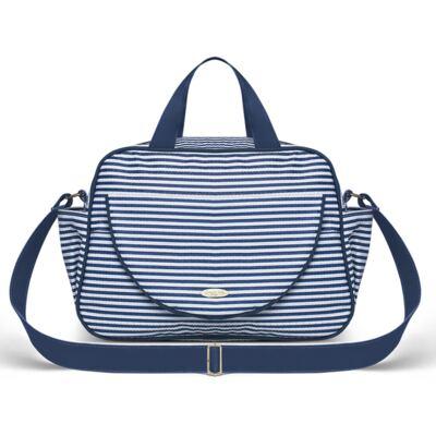 Imagem 2 do produto Bolsa + Frasqueira para Bebê Stripes Marinho - Classic for Baby Bags