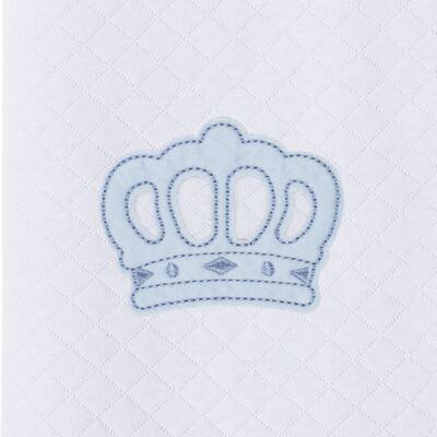 Imagem 3 do produto Saco de dormir para bebe em suedine matelassado Coroa Azul - Petit