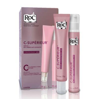 Imagem 2 do produto Kit Roc C-Supérieur Serum 15g + Gel Creme Anti-Oxidante 15m + Protetor Solar Roc Minesol Oil Control FPS 30 50g