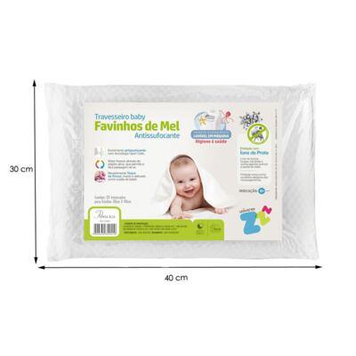 Imagem 3 do produto Travesseiro Favinhos de Mel Baby Antissufocante - Fibrasca
