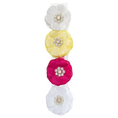 Kit: 4 Flores adesivas Branca/Pink/Amarela/Marfim - Roana