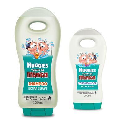 Imagem 1 do produto Shampoo Turma da Mônica 400ml Extra Suave + Condicionador Turma da Mônica 200ml Extra Suave