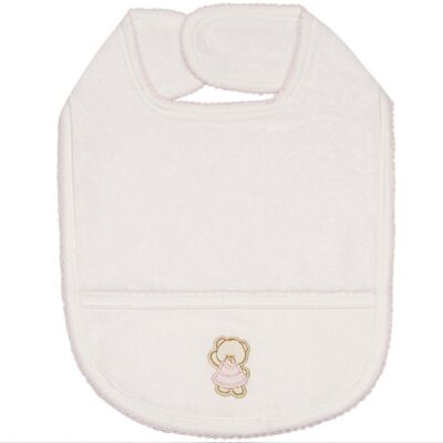 Babador atoalhado Pink Baby Bear - Classic for Baby