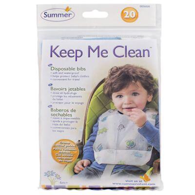 Imagem 1 do produto Babador descartável Keep Me Clean Summer 20 unidades (6m+) - Girotondo Baby
