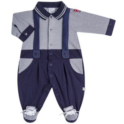 Imagem 2 do produto Jogo Maternidade para bebê: Macacão Suspensório e Manta em suedine Benjamin - Beth Bebê