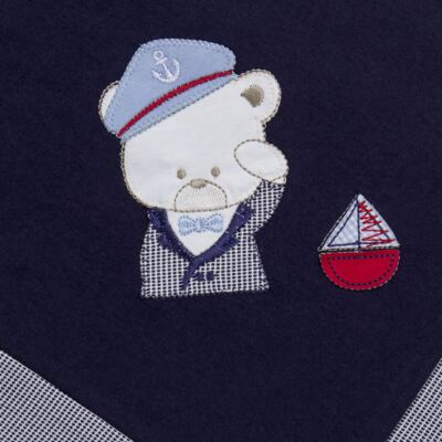 Imagem 6 do produto Jogo Maternidade para bebê: Macacão Suspensório e Manta em suedine Benjamin - Beth Bebê