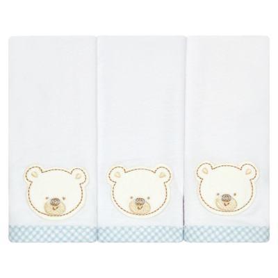 Imagem 1 do produto Kit com 3 fraldinhas de boca em malha Ursinho - Classic for Baby