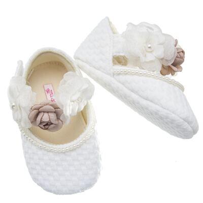 Imagem 3 do produto Sapatilha para bebe em cetim Flores - Roana