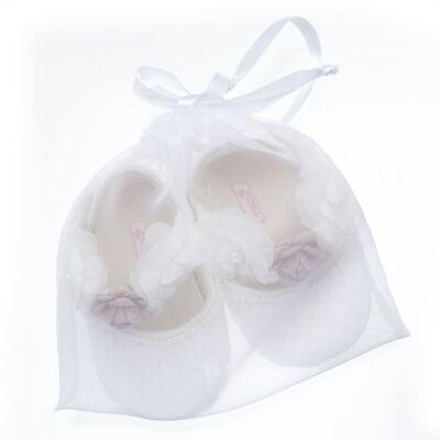 Imagem 4 do produto Sapatilha para bebe em cetim Flores - Roana