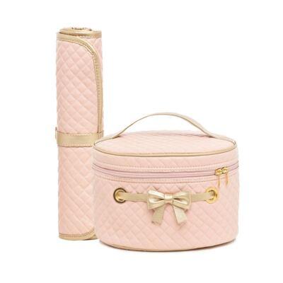 Imagem 1 do produto Mini Bolsa + Trocador para bebe Louise Rosa - Lequiqui