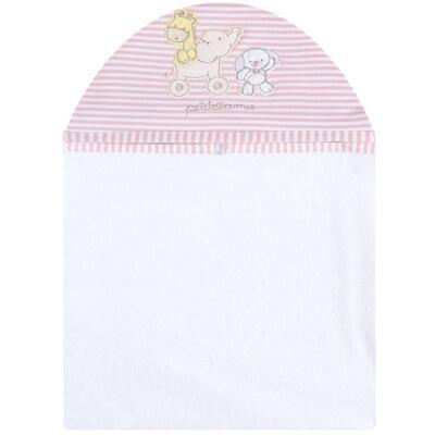 Toalha com capuz para bebe Elefantinha - Classic for Baby