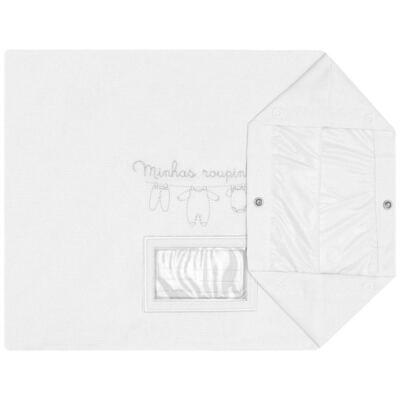 Imagem 3 do produto Kit 3 Saquinhos para maternidade Minhas Primeiras Roupinhas Branco - Petit